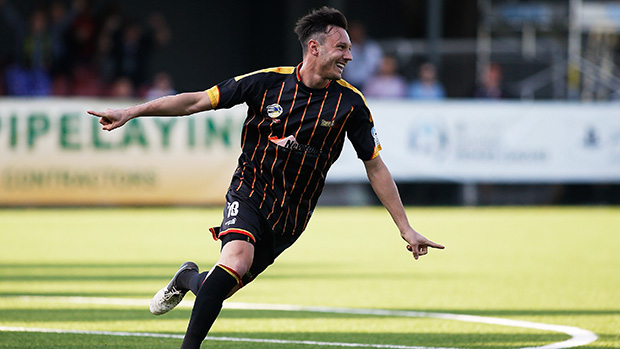 MetroStars' Fabian Barbiero celebrates his early opener in the Grand Final.