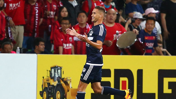 Jai ingham scored a sensational opening goal for Melbourne Victory.