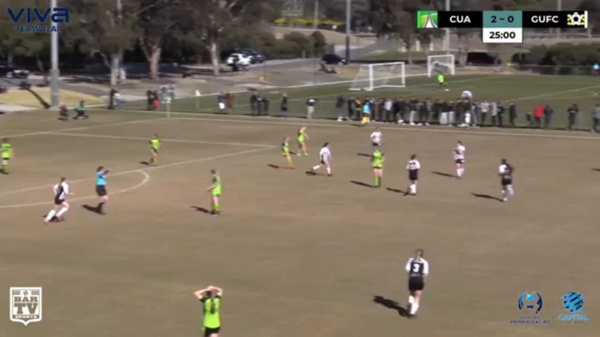 NPLW CF Elimination Final - Canberra United Academy vs Gungahlin United Highlights