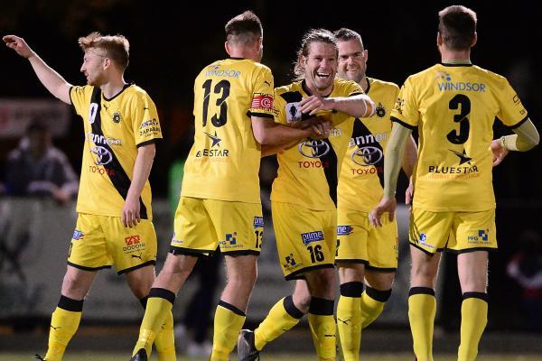 Heidelberg United celebrate