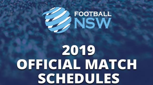 Football NSW 2019 match schedules announces