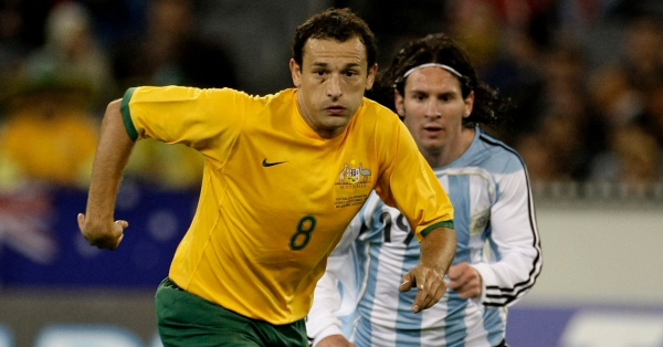 Josip Skoko and Lionel Messi at the MCG in 2007