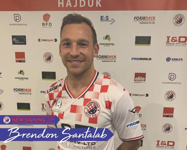 Brendon Santalab joins Dandenong City