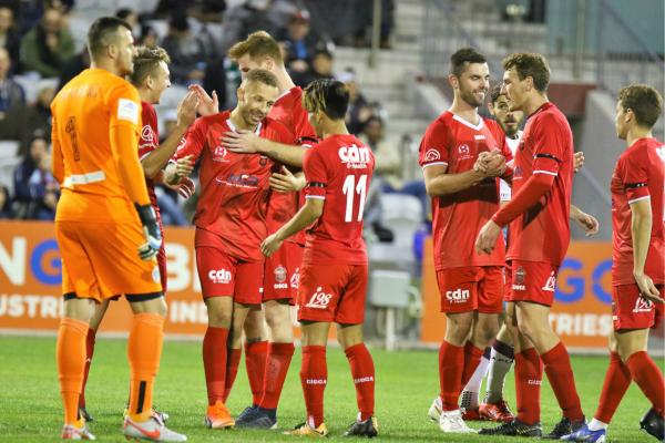 Wollongong Wolves celebrate a goal - Pic courtesy of Football NSW