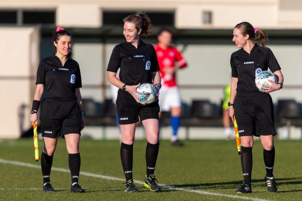 Capital Football history is made as all-female referee team officiate NPL1 Men's match